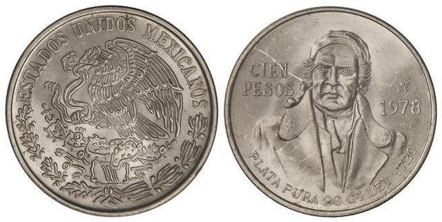 100 pesos 1978