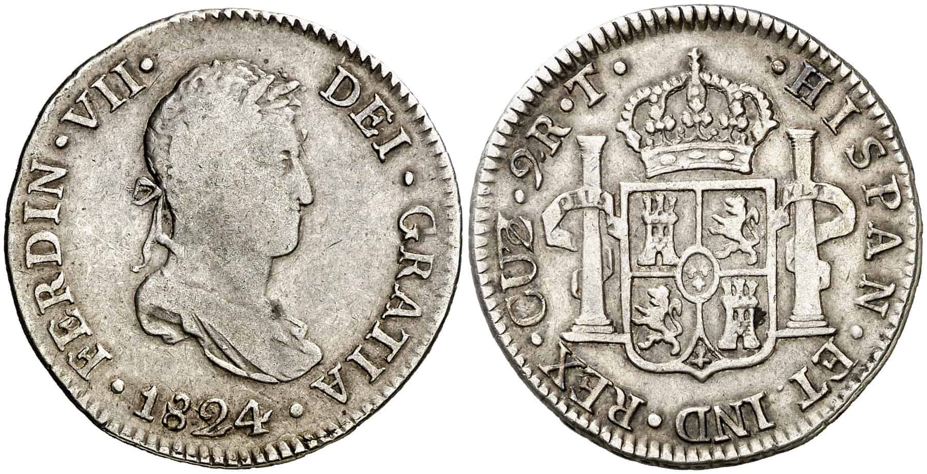 2 reales Cuzco 1824