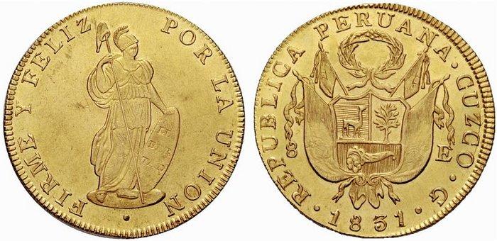 8 escudos Cuzco 1831