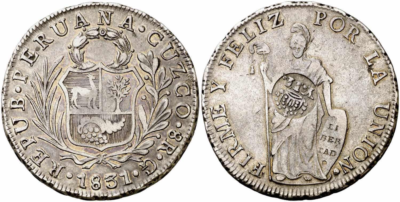 8 reales Cuzco resellado Manila