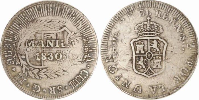 8 reales Cuzco resellado Manila 1830