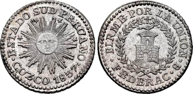 medio real Cuzco 1837