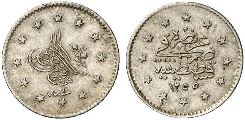 Kurush turco 1255 H. (1839)