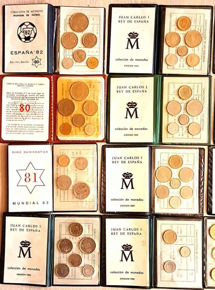 Las carteritas de pesetas de Juan Carlos I