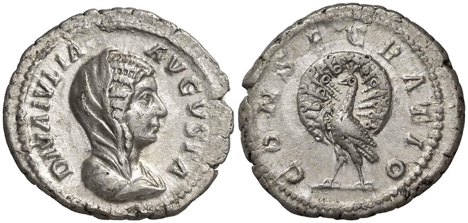 Denario a Julia Domna, mujer de Septimio Severo