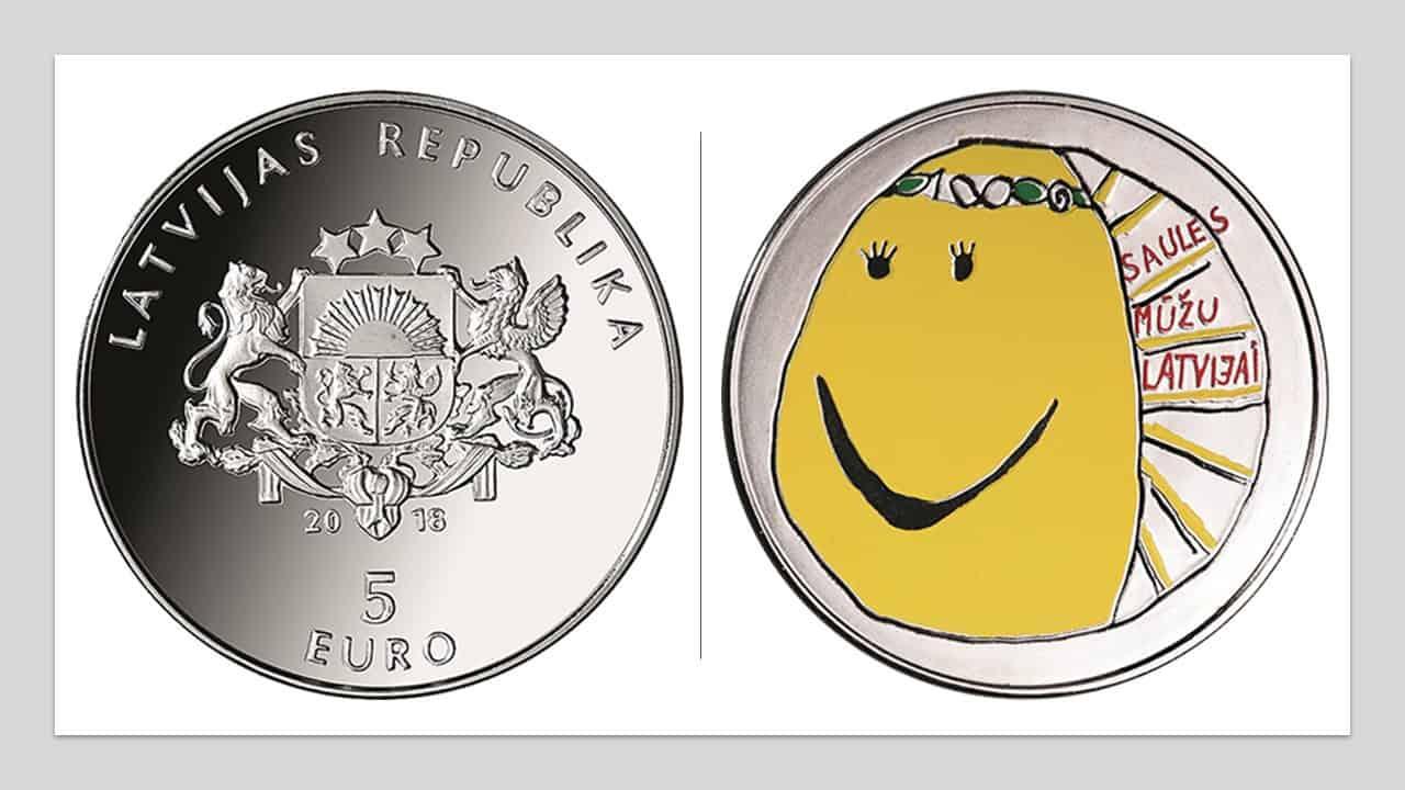 """Letonia. 5 euros """"mi Letonia"""""""