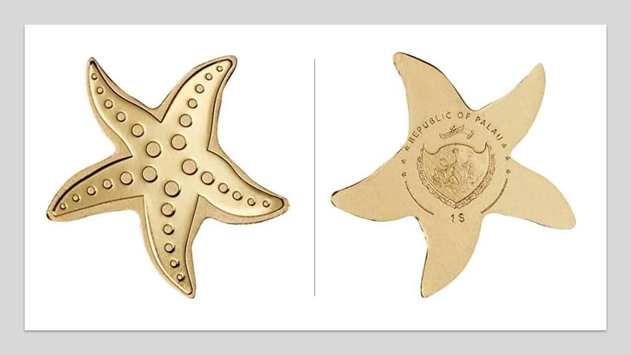 Palaos. $1 estrella de mar