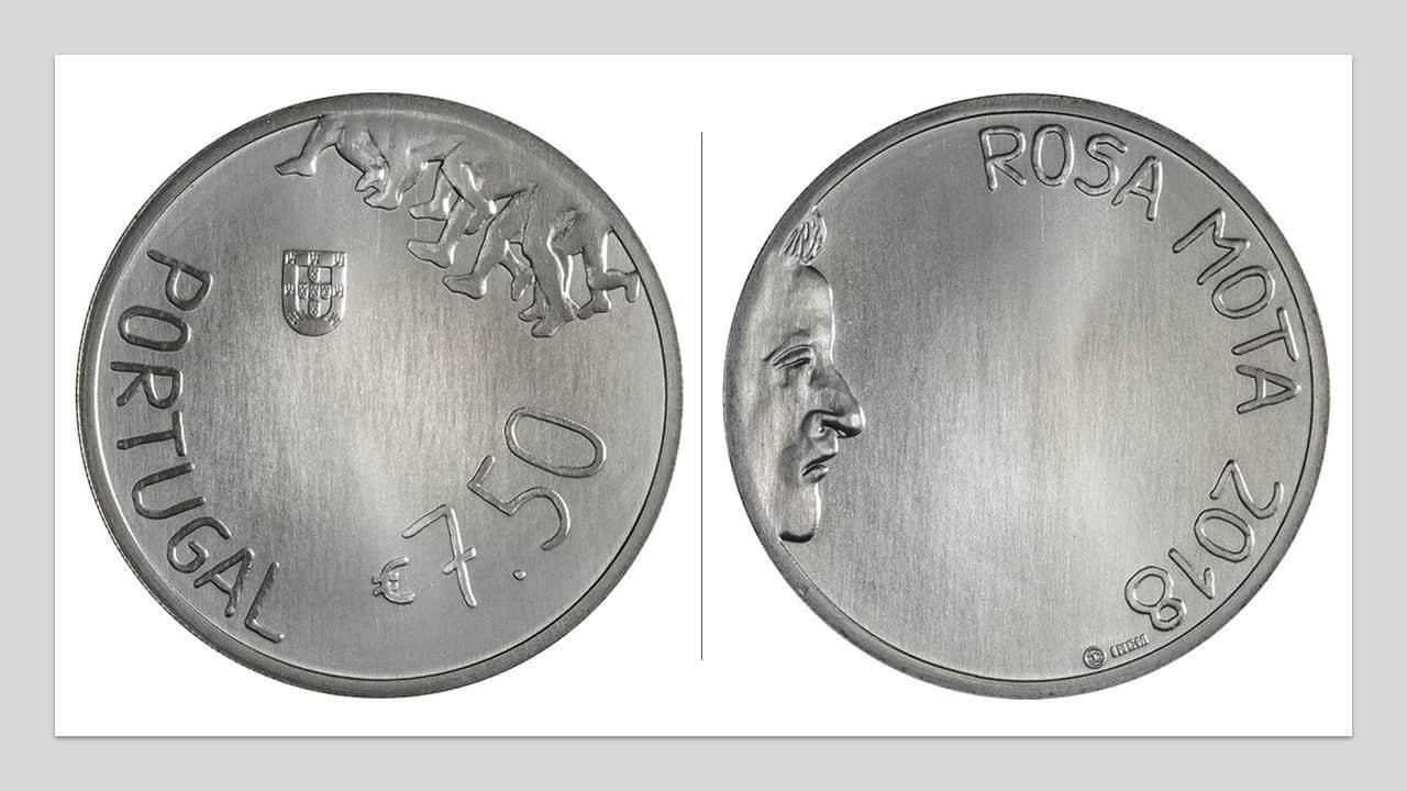 Portugal. 7,5 euro dedicada a Rosa Mota