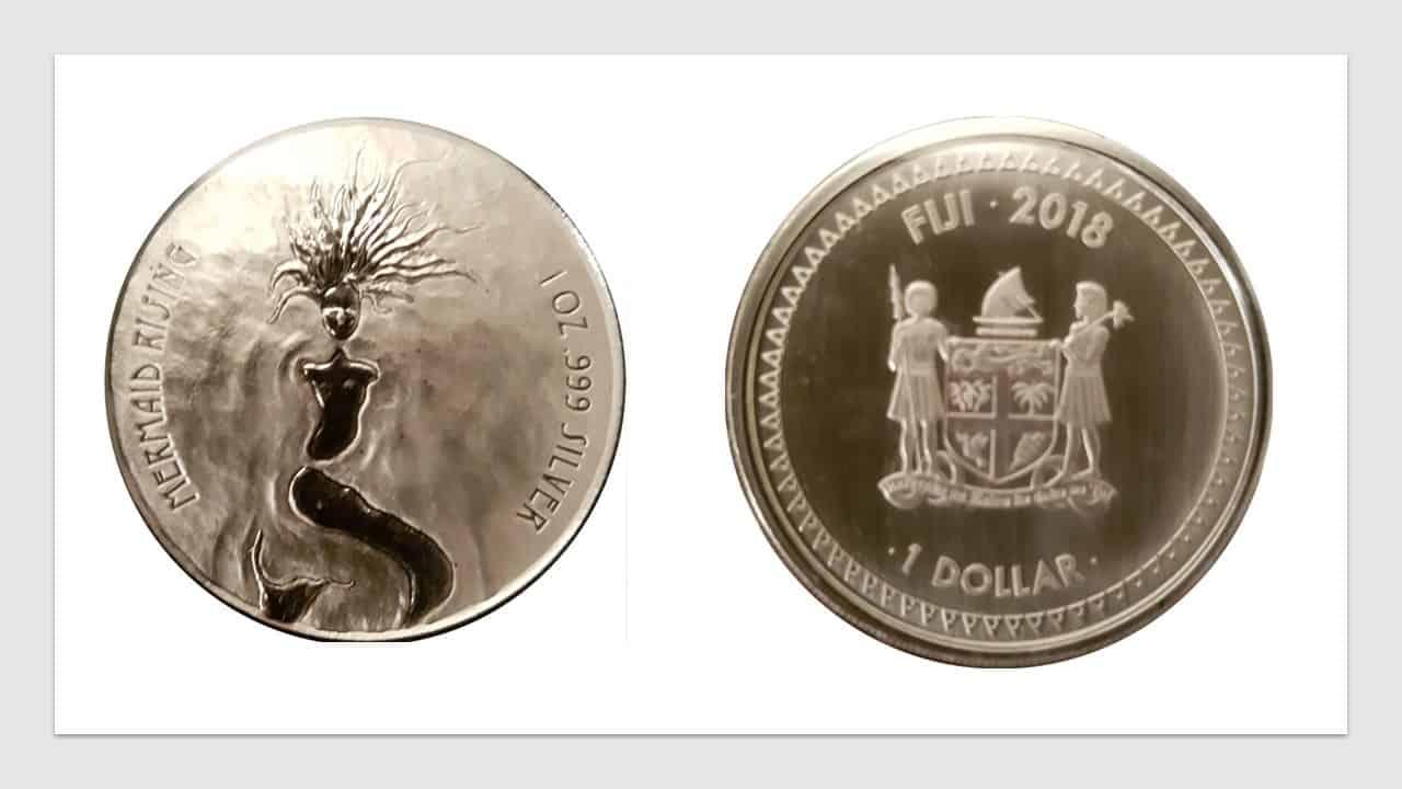 Fiji. 1 dólar, sirena levantándose.