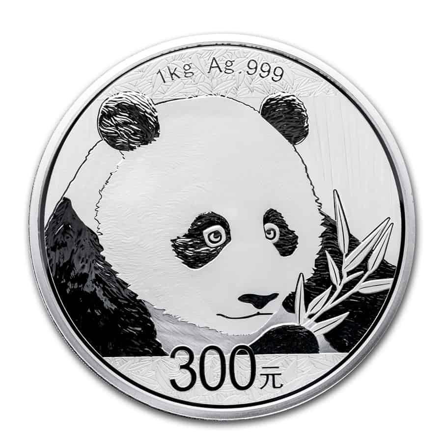 Moneda plata panda, 2018