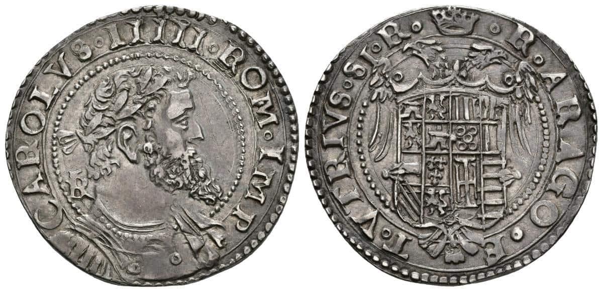 Medio ducado de Carlos V, Nápoles