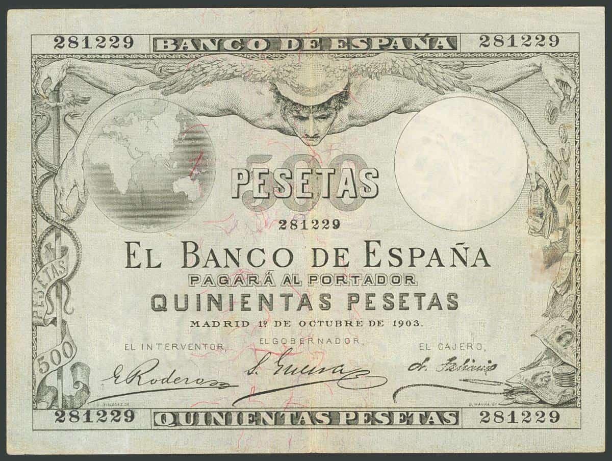 500 pesetas 1903
