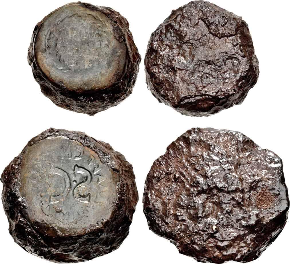 Cuño de falsario romano