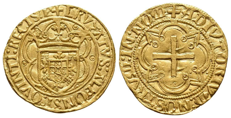 Figura 1. Cruzado emitido por Alfonso V