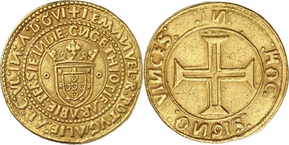 10 cruzados de Manuel I