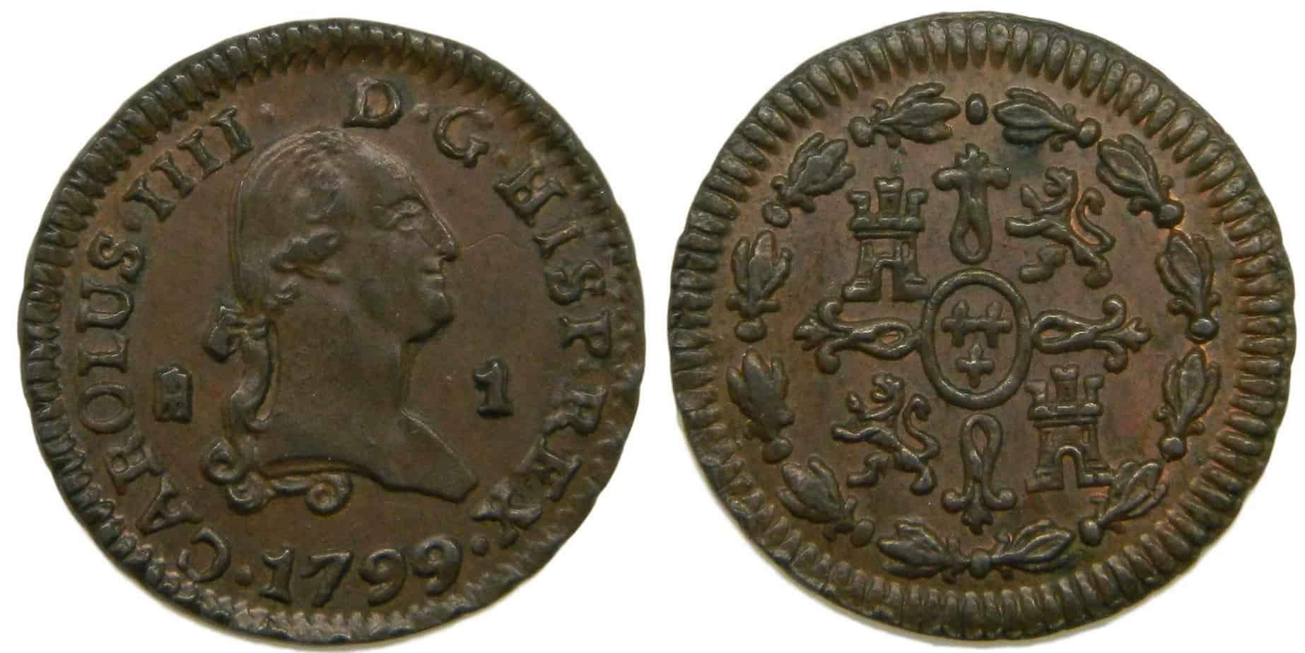 1 maravedí 1799, Segovia