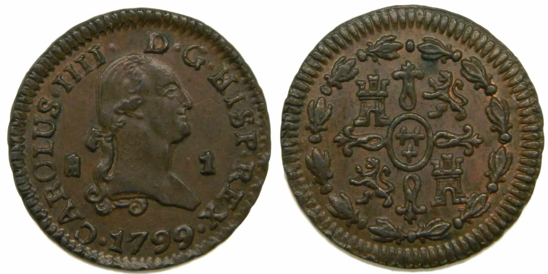 1 maravedí 1799