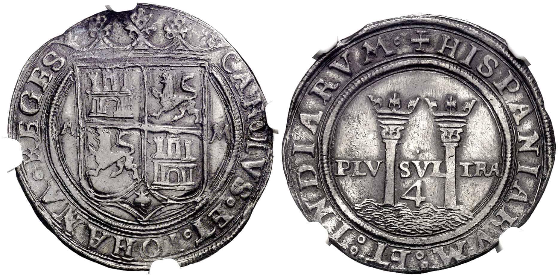 moneda de Juana y Carlos acuñada en México