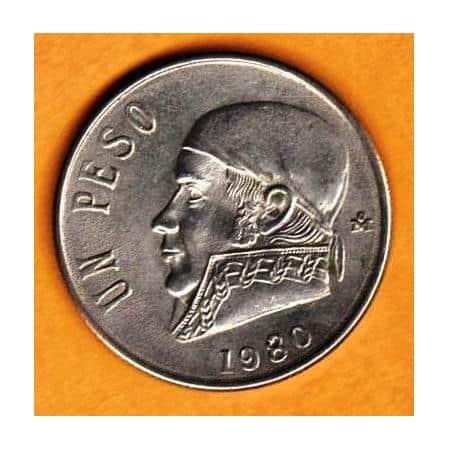 1 peso de Morelos de 1980