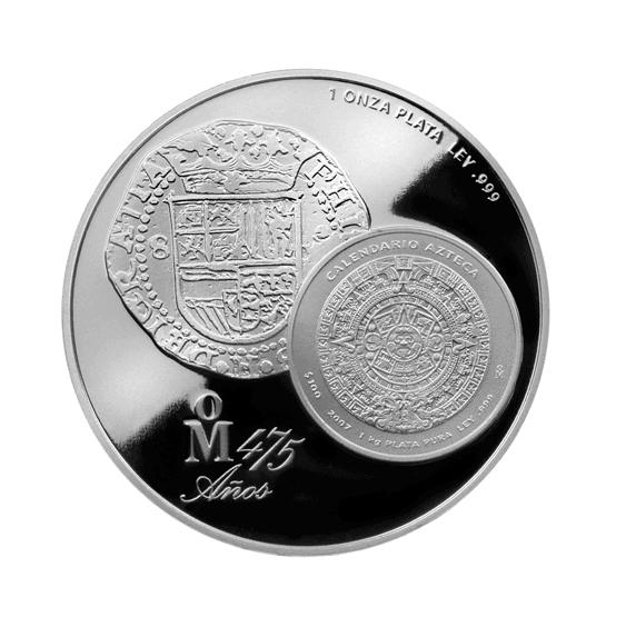 1 onza de plata, México 2015 reverso