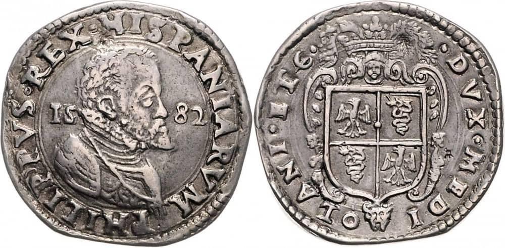 escudo Milan 1582 Falso