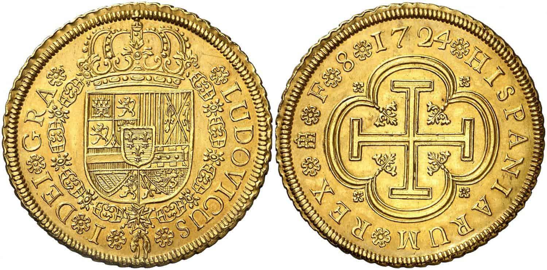 1724. Luis I. Segovia. F. 8 escudos.