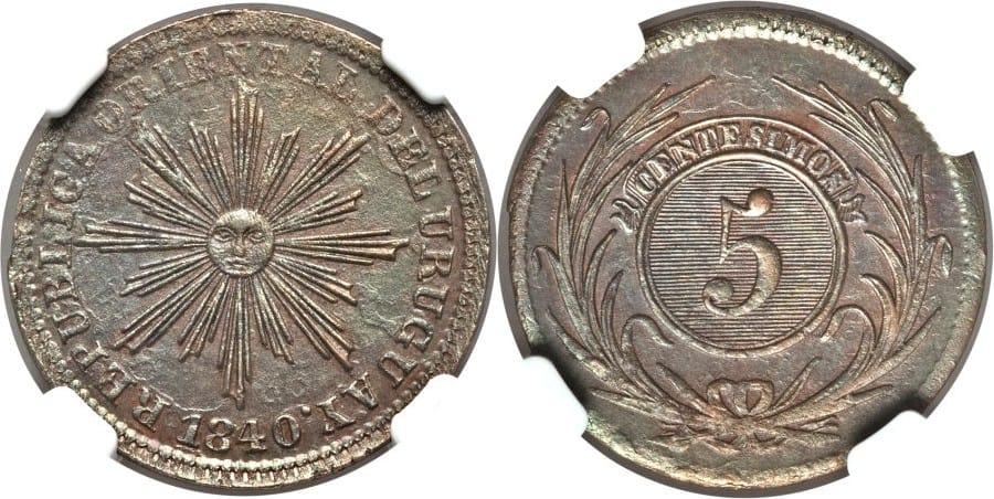 5 Céntimos 1850