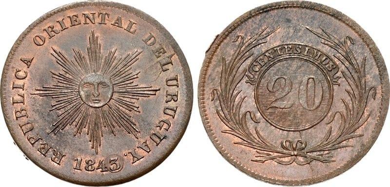 20 céntimos, 1843