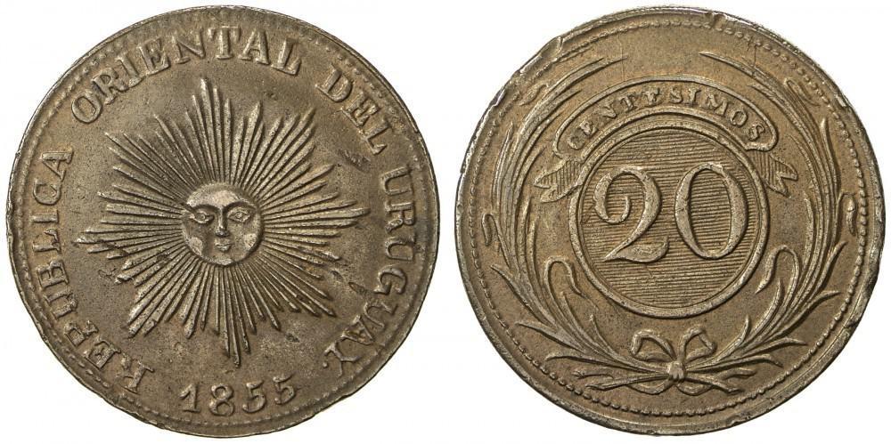 20 céntimos, 1854