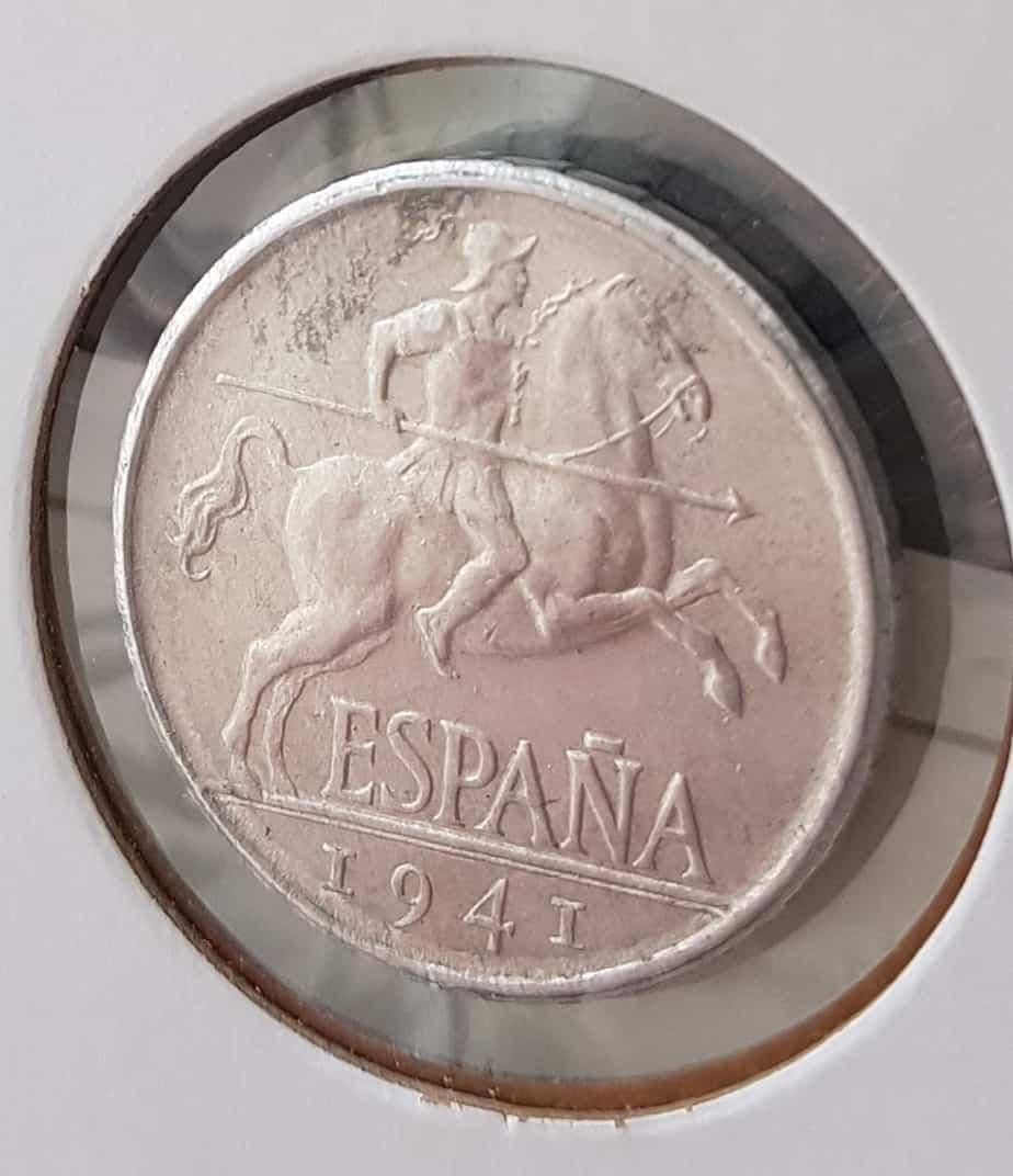 Aparición de óxido en las monedas de 5 y 10 céntimos 1940-1945