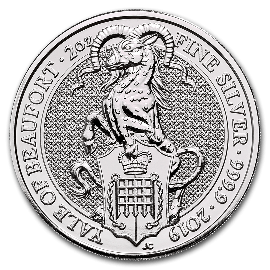 La serie de monedas «<i>The Queen's Beasts</i>«