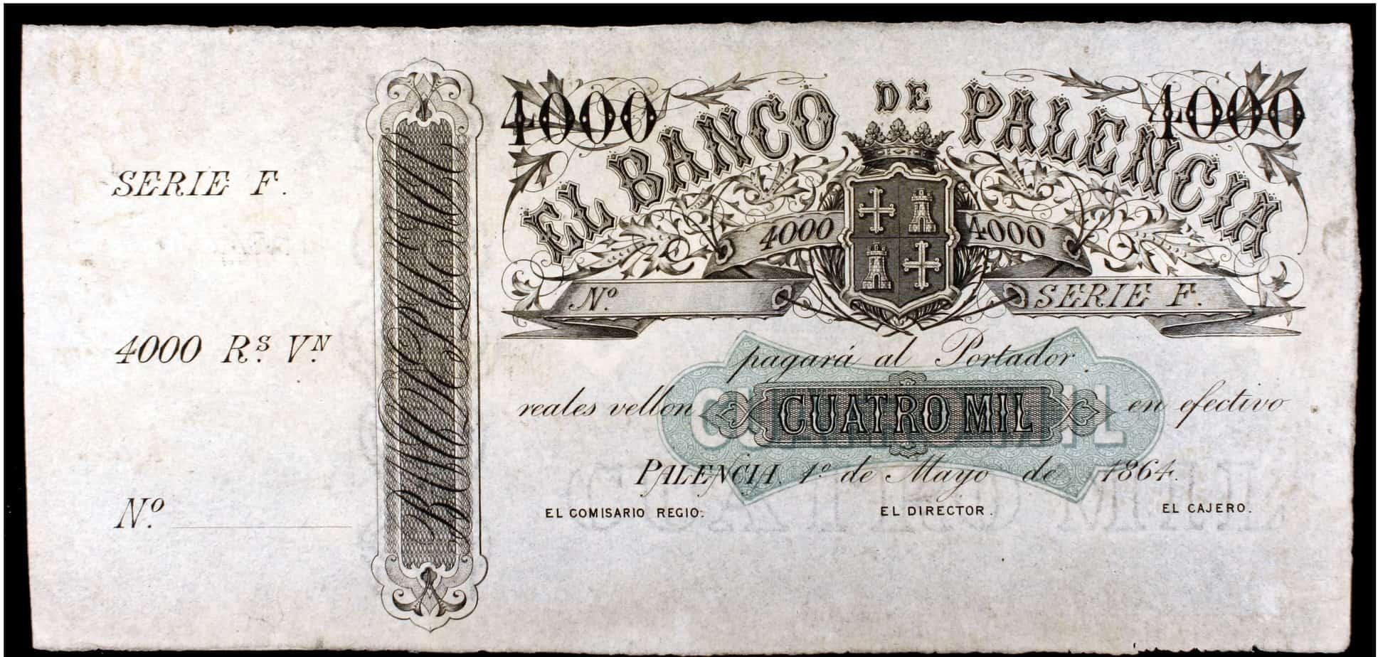 Aportaciones numismáticas de la provincia de Palencia: Billetes imprimidos