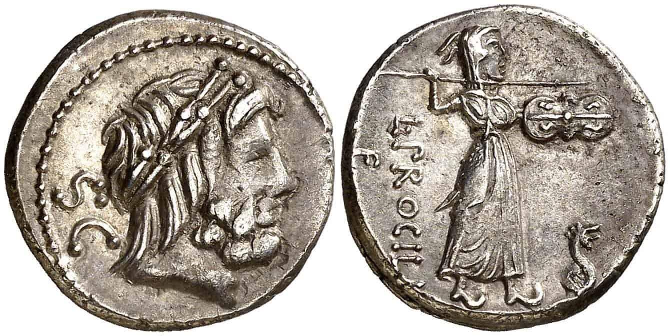 Denario de Gens Procilia