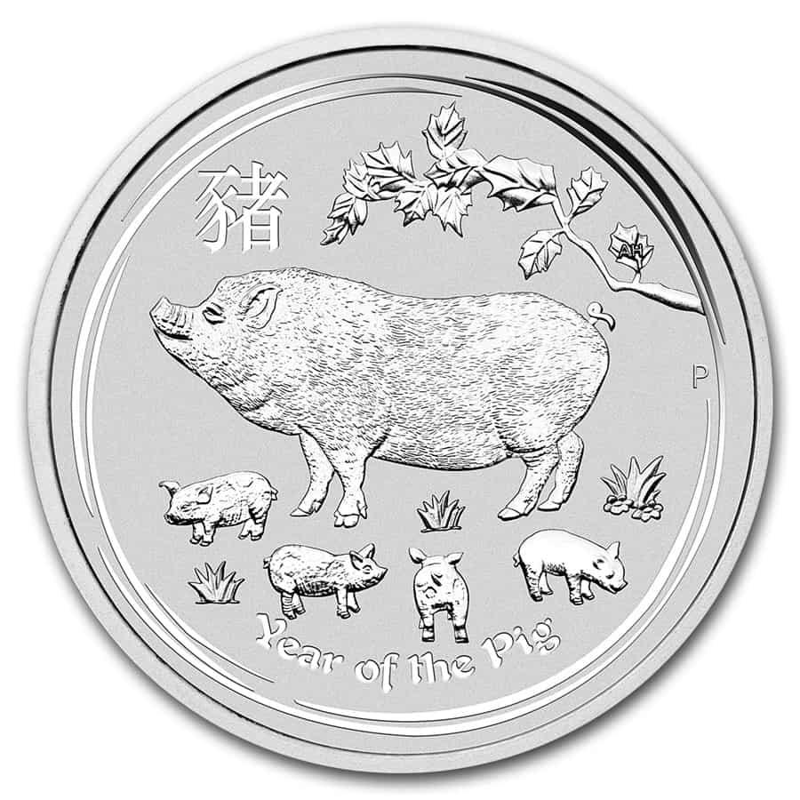 Algunas monedas de plata <i>bullion</i> de 2019