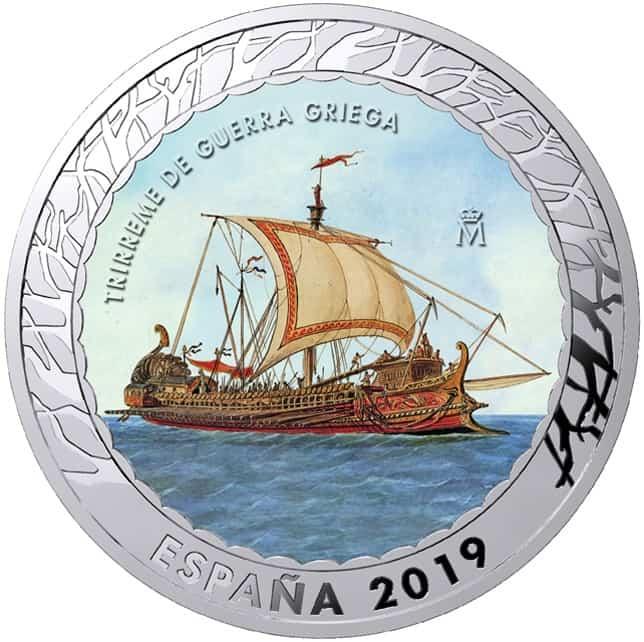 Moneda Trirreme Griego
