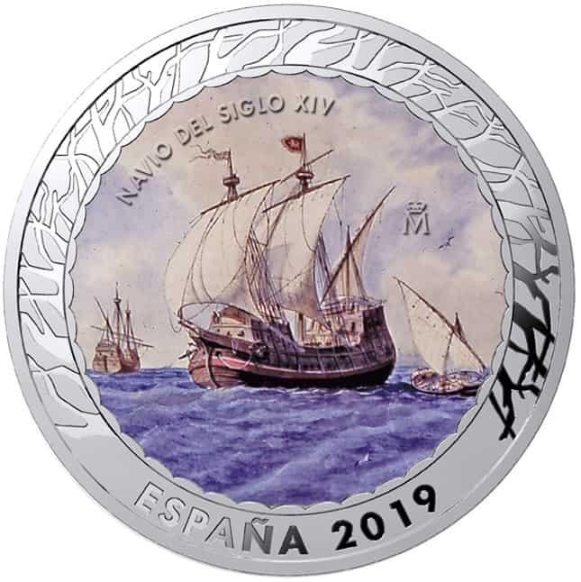 Moneda Navío Siglo XIV