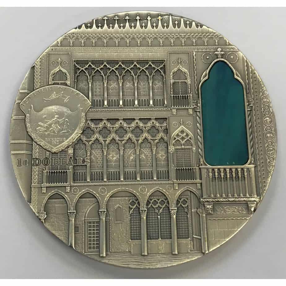 2 dólares Palaos Catedral Venecia
