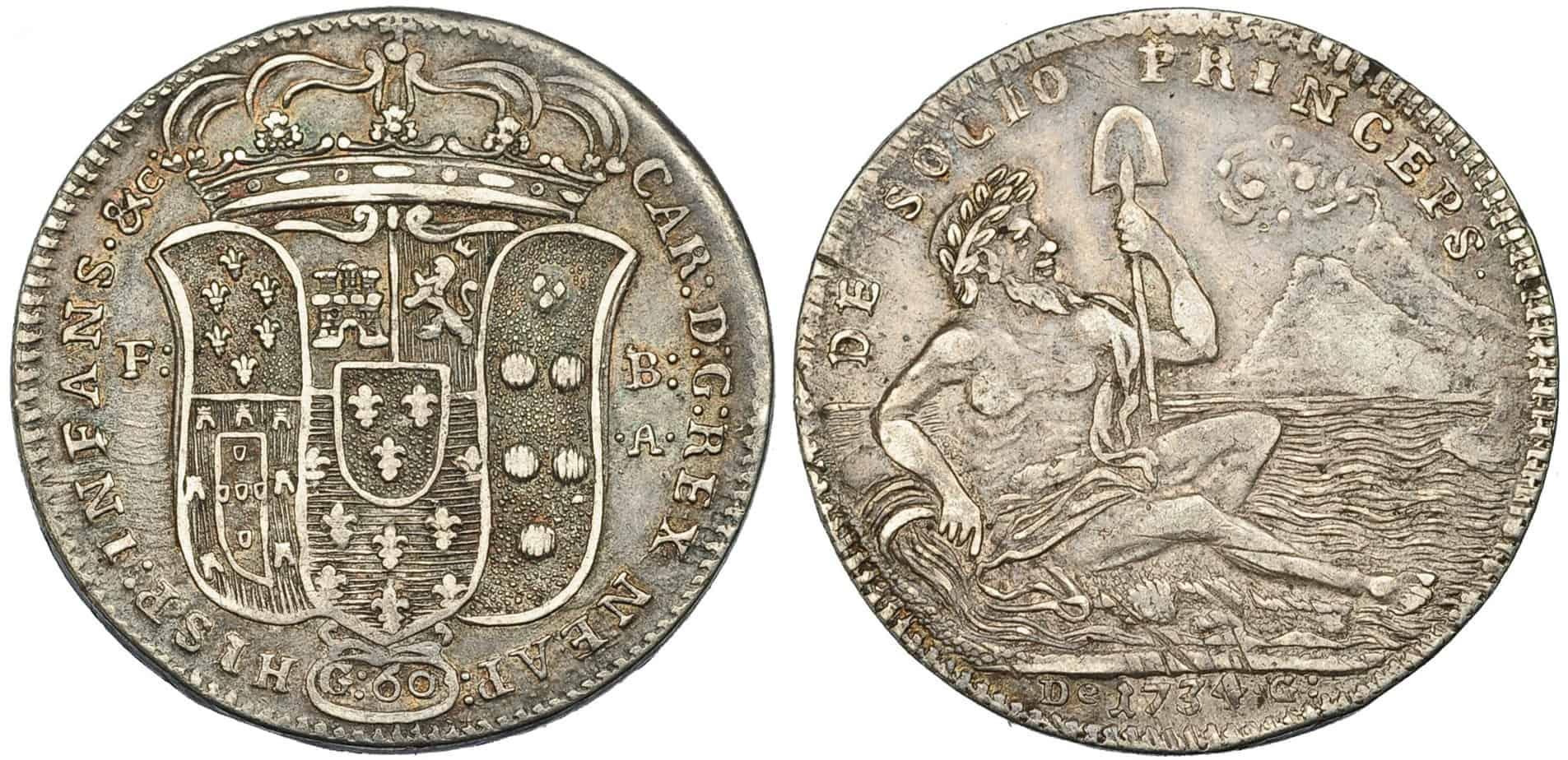 60 grana de Nápoles, 1734