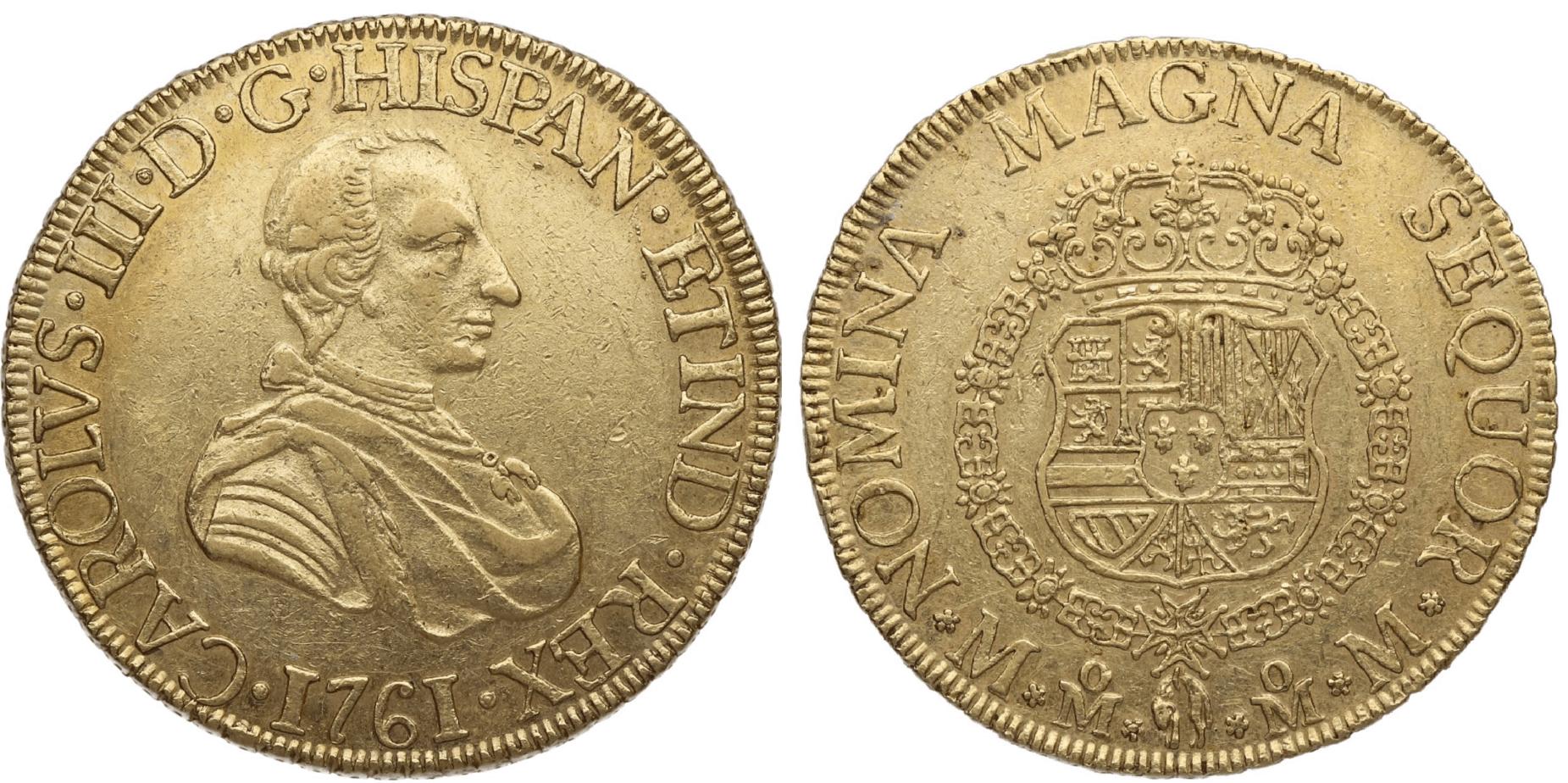 8 escudos México 1761