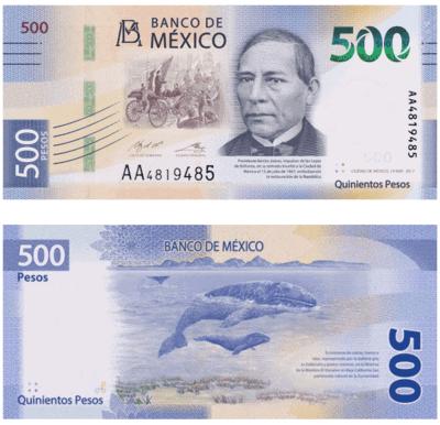 500 pesos billetes mexicanos