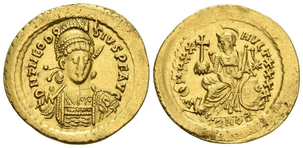 Sólido de Teodosio II, Constantinopla