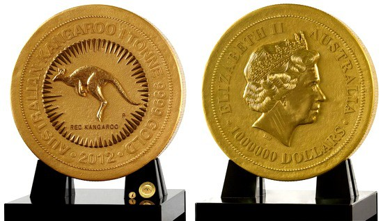 moneda 1 tonelada de oro