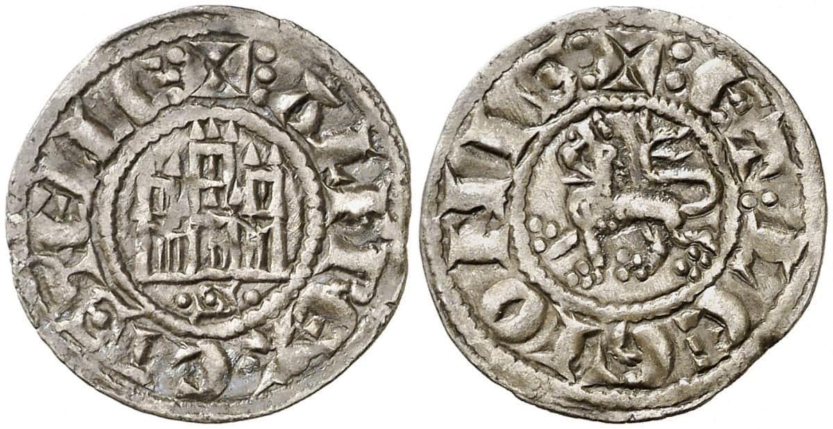 Dinero pepión, Alfonso X, Sevilla