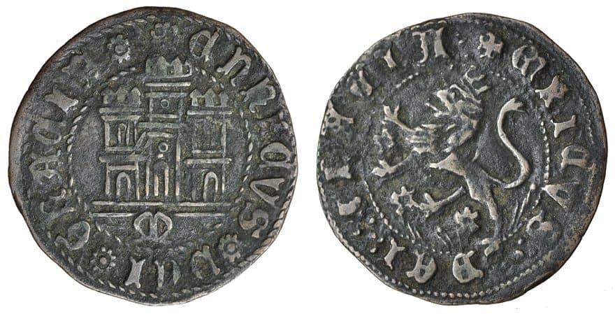 Maravedí de Enrique IV de Murcia