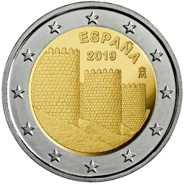 2 euros Muralla Avila