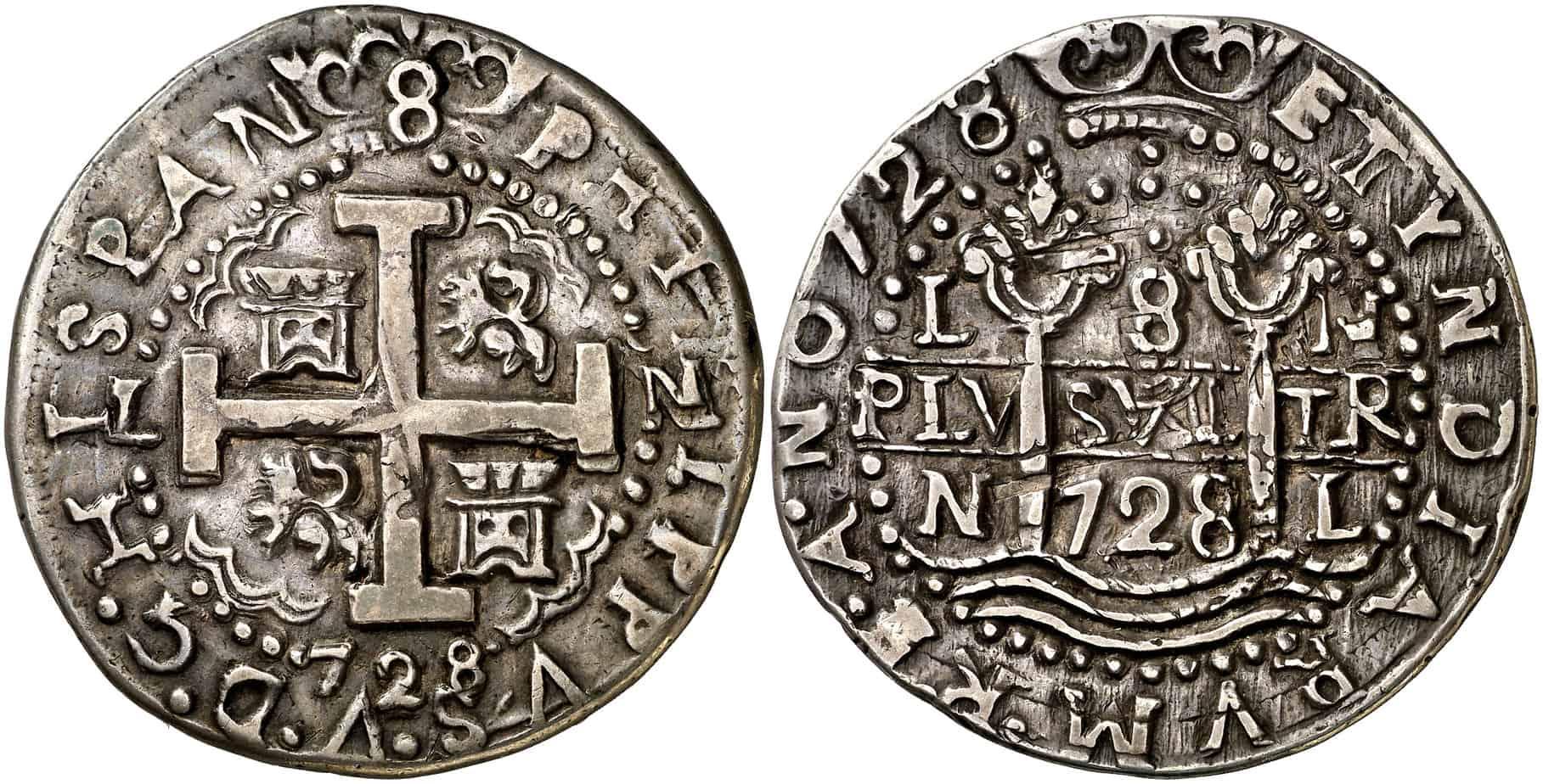 8 reales galano Lima 1728