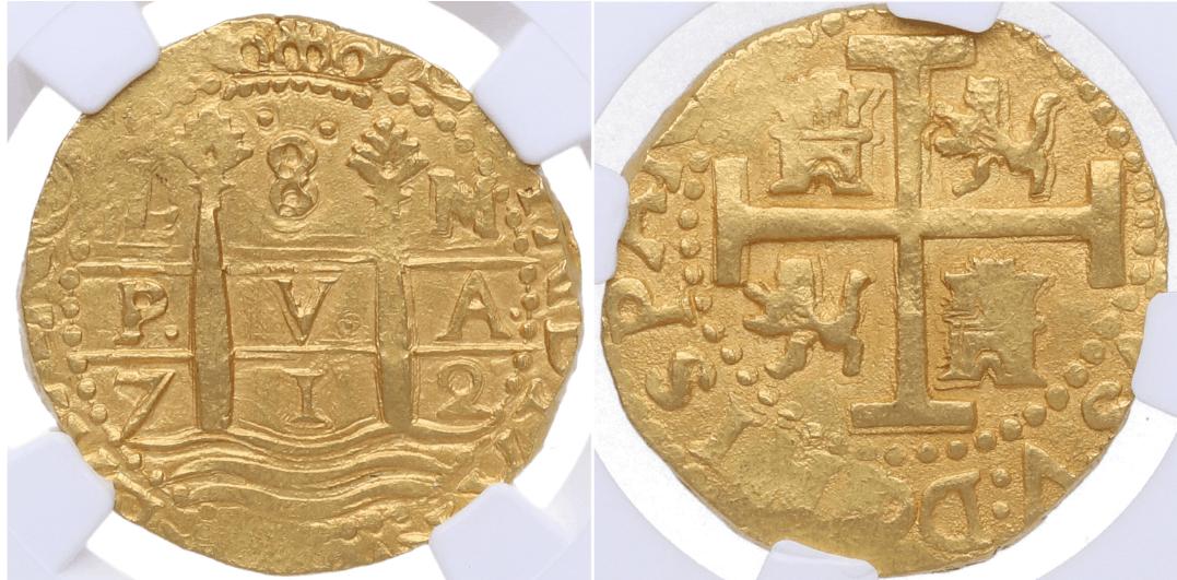8 escudos, Lima 1712