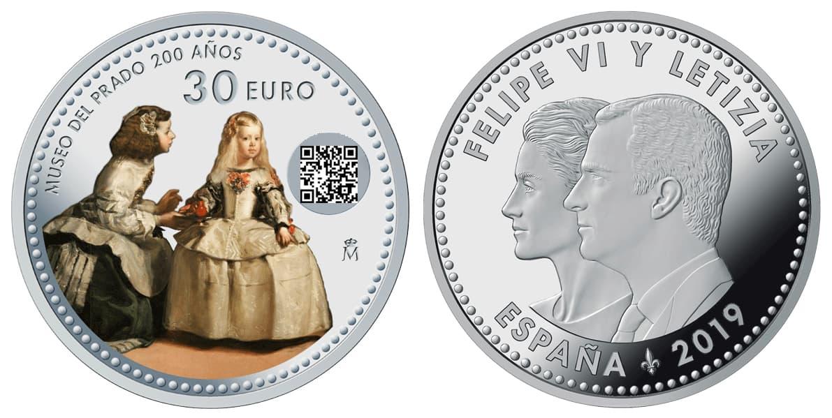30 euros 2019, conmemorativa del Bicentenario del Museo del Prado