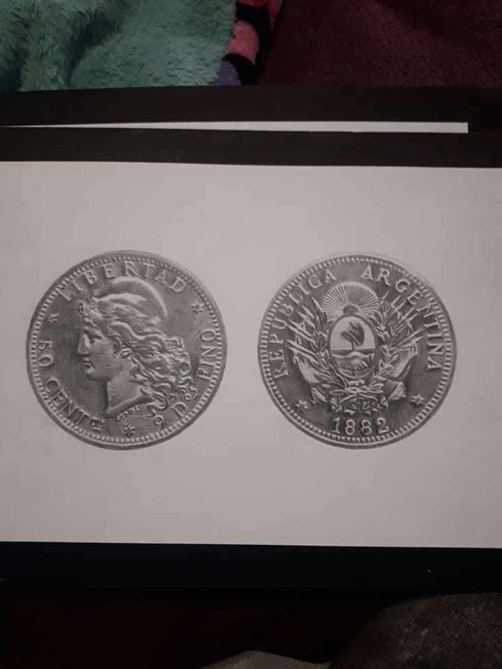 dibujo de moneda