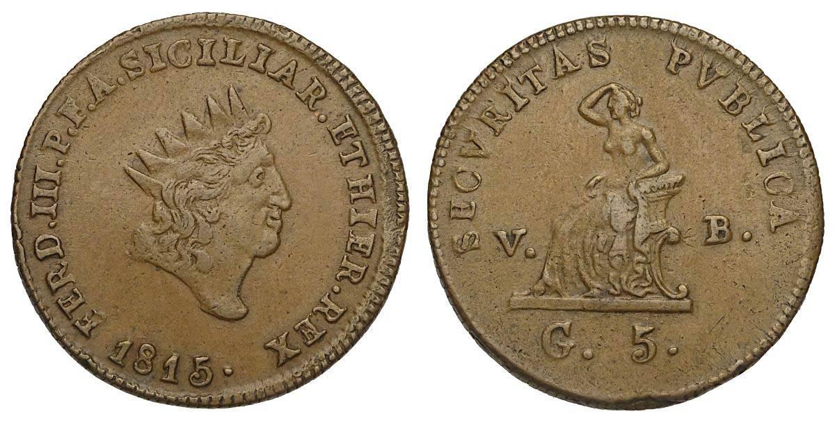 5 grana 1815, Palermo